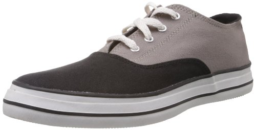 Converse Men's Black and Grey Canvas Sneakers - 7 UK (111304)
