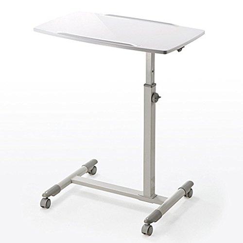 GAOYANG Computertisch, Boden Tisch Laptop Ständer, Computer Hubtisch, Podium Faule Nachttisch, Haushaltslift Faltbare Bewegung, Rolle, 4 Arten (Größe: 70-88CM) (Farbe : Weiß)