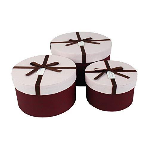 Emartbuy Set von 3 Starrer Luxus Runden Präsentation Geschenkbox