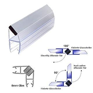 Bagnoxx Duschdichtung-Set, 200cm, 8mm, 90 Grad Magnetlippe PVC Ersatzdichtung
