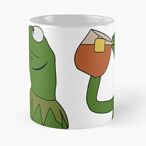 Kermit The Frog Meme - Best Gift Mugs Sippin Sipping Sip Tea Spill King Thats None Of My Business Best Personalized Gifts Sip Business