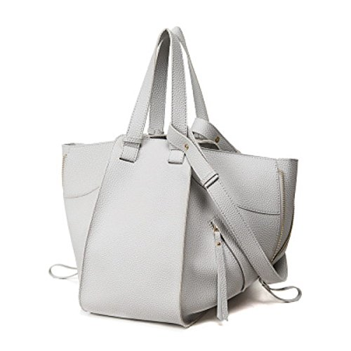Borsa Handle Handle In Pelle In PU Soft Totes LightGray
