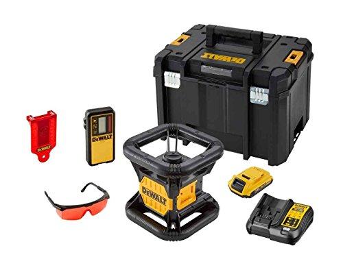 Dewalt dce074d1r-gb XR selbstnivellierende Rotationslaser-Kit, 18V, gelb/schwarz, Set 8Stück Rot-8 Gb Kit