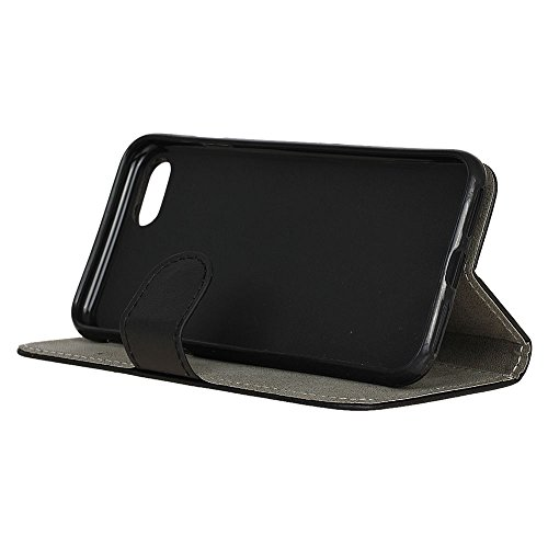 Voguecase® Pour Apple iPhone 7 4,7 Coque, Étui en cuir synthétique chic avec fonction support pratique pour iPhone 7 4,7 (Litchi grain Pourpre)de Gratuit stylet l'écran aléatoire universelle Noir