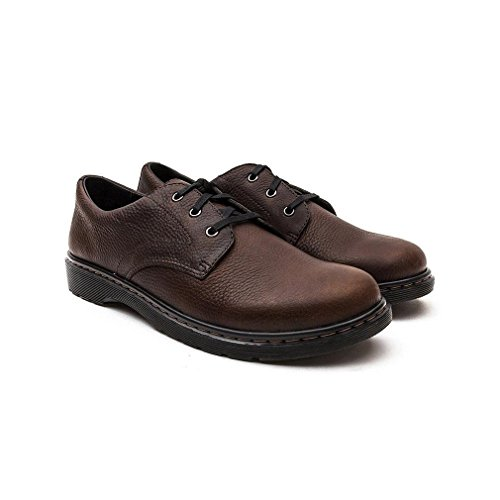Dr.Martens Mens Andre Leather Shoes Dark Brown