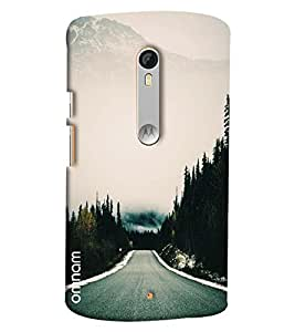 Omnam Roads Towards Mountain Printed Designer Back Cover Case For Moto X Style