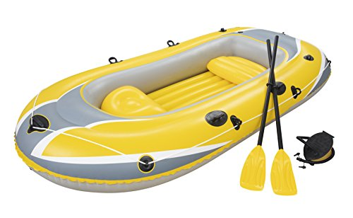 "Bestway ""Hydro-Force Raft Set Boot 255x127cm mit Blasebalg und 2 Rudern"