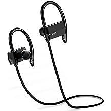Mpow Auriculares Bluetooth 4.1 Deportivos, Tiempo Largo de Reproducción, Cascos Manos Libres para Correr compatable con Móvil iPhone 6 6s 7 y Huawei Android Auriculares de Deporte para Correr Running Headphone para