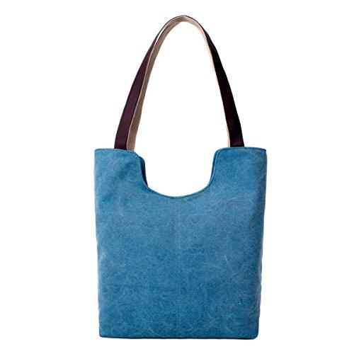 QPALZM Sacchetto Di Spalla Estate Borsa Leather Tote Womens Borsetta PU 35.27 Angsi (oz) Blue