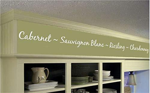 wandaufkleber weihnachten Weinkarte Cabernet Sauvignon Blanc Riesling Chardonnay für Küchenbar