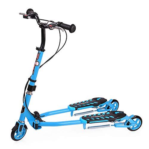 scooter Kids Faltbare Swing Wiggle Self Push Motion Speeder Outdoor Sports mit 3 höhenverstellbaren Lenker für Kinder über 6 Jahre älter