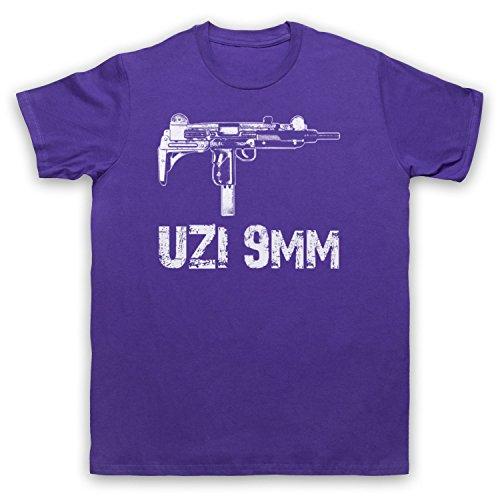 Uzi 9mm Gun Herren T-Shirt Violett