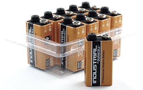 Duracell Industrial Boîte de 10 piles 9V E-Block/MN1604/6LR61