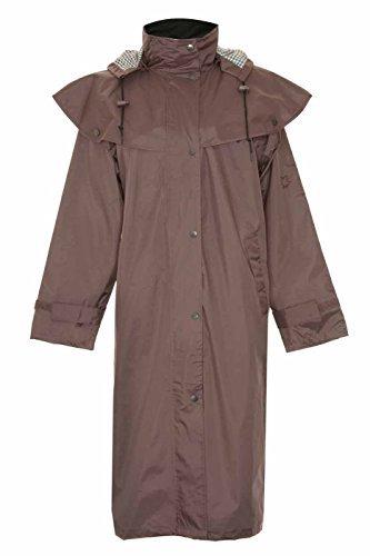 Damen Jacke Socks Uwear® Country Estate Sandringham Wasserfest Gefüttert Reitmantel - Polyester, 40, Braun