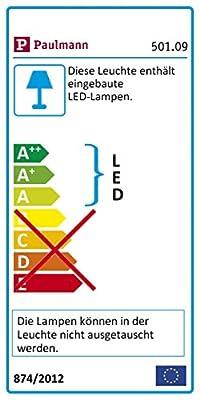 Paulmann 501.09 Seilsystem DiscLED1 Set erweiterbar Tageslichtweiß 4x4W Satin Dimmbar Tunable white LED 50109 Seilleuchte Hängeleuchte