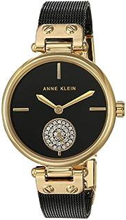 Anne Klein Women's Premium Crystal Accented Mesh Bracelet W