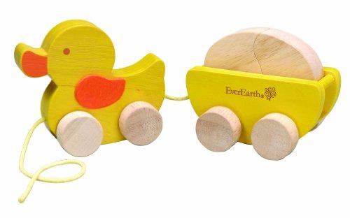 EverEarth EE30937 - Nachzieh Ente mit Ei, beige/gelb
