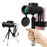 Télescope Monoculaire, Wilbest 12x50 Longue-vue HD, Anti-dérapant BAK4 Prisme FMC Revêtement avec...