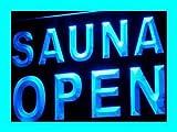 Jintora Neon Sign -Insegna al neon - SAUNA OPEN - SAUNA APERTA - Festa, discoteca, club, bistrot, sala feste, finestra