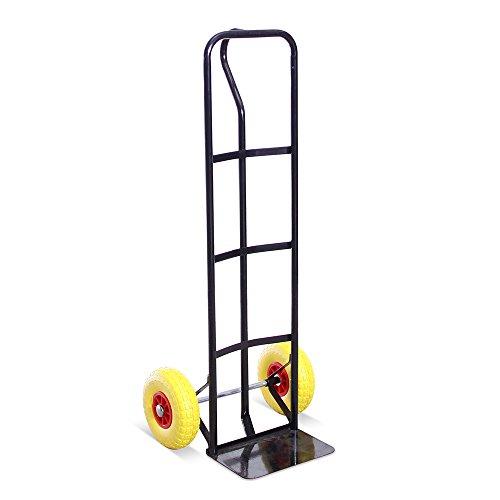 Stahl-griff (Industrielle P-Griff Sackkarre aus Stahl mit hoher Rückseite und stichfesten Reifen. 325kg Gesamtlastkapazität - 5 Jahre Garantie.)