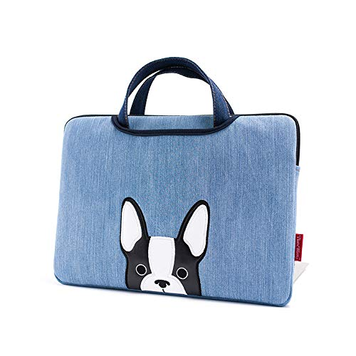 FLABEY MacBook Pro Bag Notebook Sleeve Laptop Handtasche, Wasserdicht Und Stoßfest Denim Stoff, Passt Auf 15,6-Zoll-Notebooks, Wie ASUS Lenovo Dell, Etc (Blau) (Fall Macbook Men Pro)