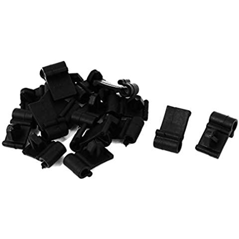 16 uds Remaches de Plástico Negro Sostenedor Clip 5mm x 7mm x 8mm para Coche Parachoques
