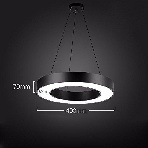GZLight Decke Anhänger Leuchten in einem modernen, minimalistischen Stil ein leerer Kreis weißes Licht 40 * 7 cm Leerer Kreis-anhänger
