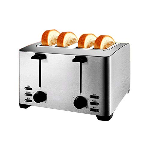 QSJNN Haushalts-Edelstahl-Toaster, Frühstücksmaschine