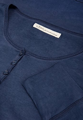 Blaumax Damen Langarmshirt Paris, Einfarbig Ink Blue