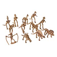 Lisanl 12pcs Education Toy Dinosaur Fossil Skeleton Building Kits Figures Model