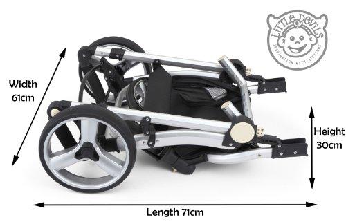 BLACK & WHITE CARRERA SPORT 3-in-1 Baby Travel System/Pushchair/Pram/Buggy/Stroller