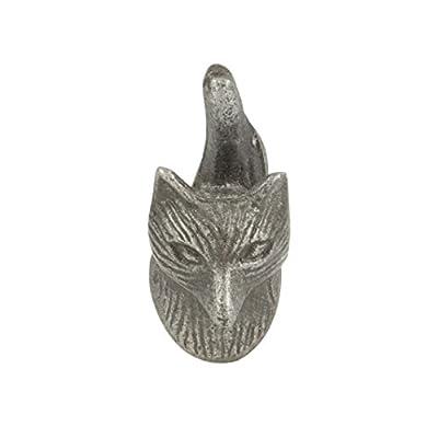 Vintage Fox Door - Drawer - Cupboard Knob / Handle ~ Metallic Dark Grey