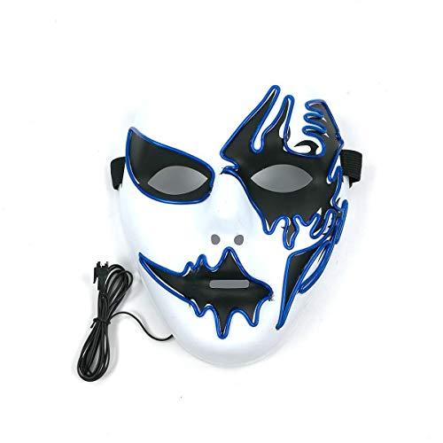 Hzonder LED Leuchten Maske Halloween Blitzmodi Party EL Draht Masken KostüM Party Cosplay Weihnachten Ostern