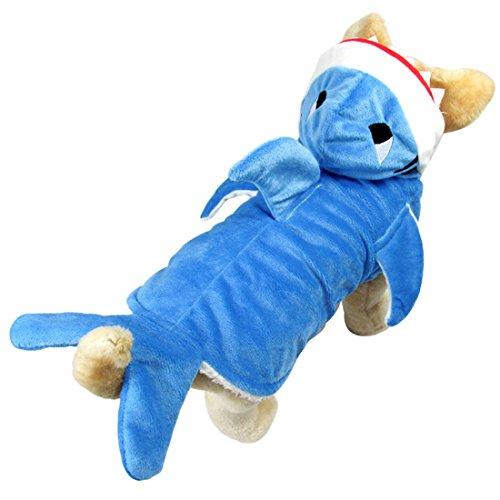 Nettes Haifisch-Abendkleid-Kostüm Holloween Outfit Haustier-Kostüm Hoodie-Mantel für große Hunde und (Kostüme Holloween Für)