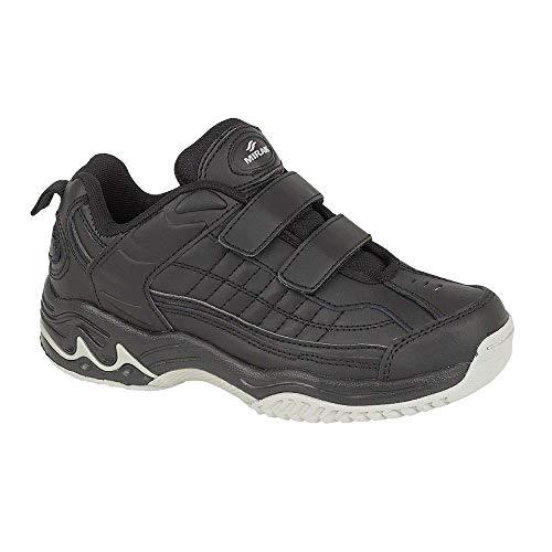Mirak Mens Contender Velcro Padded Leather Sports Trainer Black (Large)