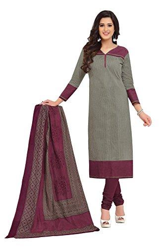 NAI DISHA SALWAR KAMEEZ DRESS MATERIAL-Grey-BAALAR1614-VM-Cotton
