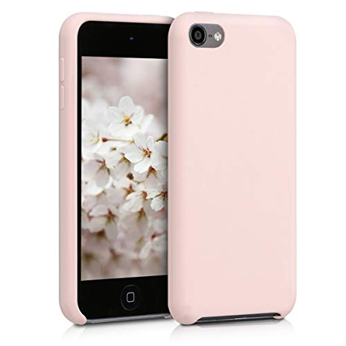 Kwmobile apple ipod touch 6g / 7g (6. und 7.generation) cover - custodia per apple ipod touch 6g / 7g (6. und 7.generation) in silicone tpu - back case cellulare rosa antico