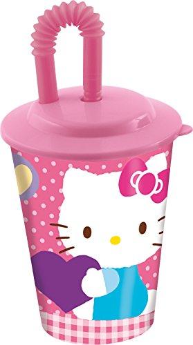 Stor 97866-Verre à Jus de Canne Petit Modèle-Hello Kitty
