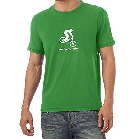TEXLAB - Weltkulturerbe Downhill - Herren T-Shirt, Größe L, grün