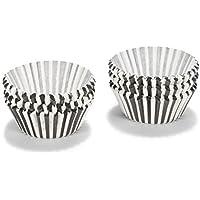 Patisse 01734 - Carta da forno per cupcake, 5 cm circa, colore: Bianco/Nero