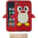 Tinkerbell Trinkets® Rouge Mignon Pingouin Manchot Etui Coque Housse Pour iPod Touch 4th Gen Génération 4 4G
