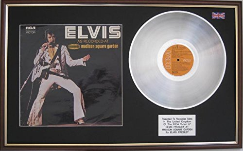 s Presley-Platinum Disc LP &,-Madison Square Garden ()