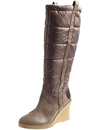 Laura Lenti Botte D'Hiver Chaussures femme pour hiver marron doublé 1603 - Marron, 42 EU