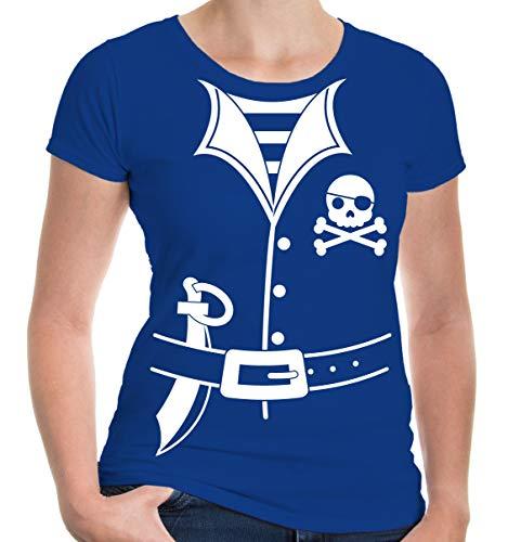 buXsbaum Girlie T-Shirt Pirate-Dress-XXL-Royal-White (Royal Lady Pirate Kostüm)