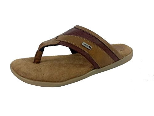 Fuzion Men's Camel Slipper - 8 UK  available at amazon for Rs.498