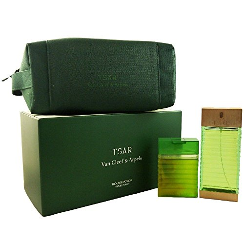 Coffret / Gift Set Van Cleef & Arpels Tsar Eau de toilette 100ml & Gel douche -Shower Gel 100ml & Trousse de toilette -Pouch