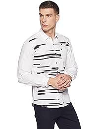 Wrangler Men's Printed Slim Fit Casual Shirt