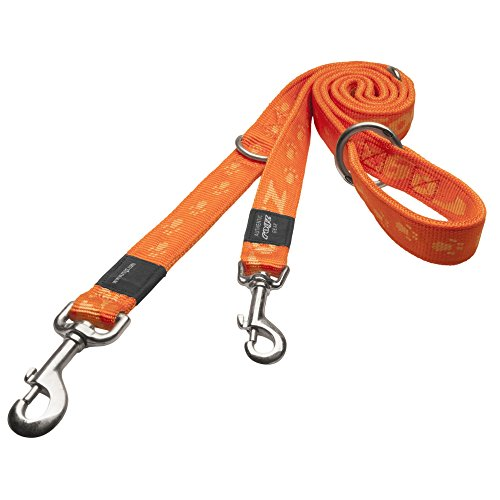 Rogz Alpinist Training Hunde Leine (1.6m x 25mm) (Orange)
