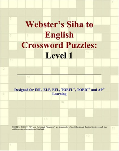 Webster's Siha to English Crossword Puzzles: Level 1 thumbnail