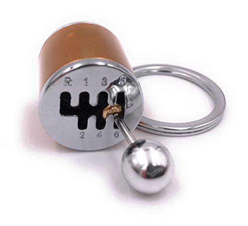 H-Customs Anhänger Schaltkulisse Schaltung Hebel Knauf orange Schlüsselanhänger